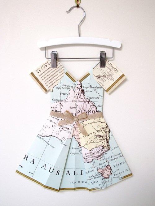 Miss Australia - Folded paper dress
