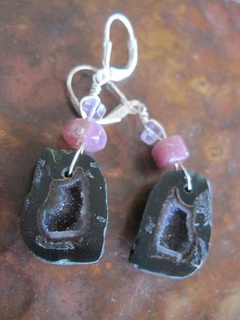 pink-tourmaline-drusy-geode-earrings