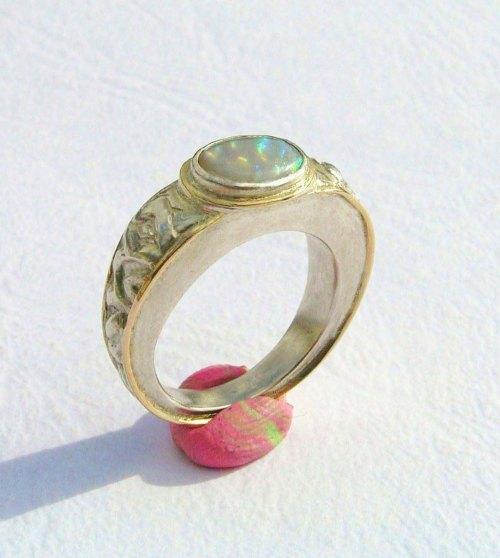 Solid Australian Opal Ring