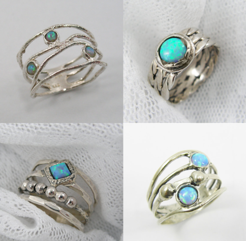 Sterling silver and Opal Rings