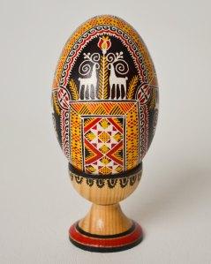 Hutsul Easter Egg Pysanka, Carpathian Embroidery