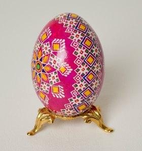 Pretty on Pink - Ukrainian Duck Pysanka