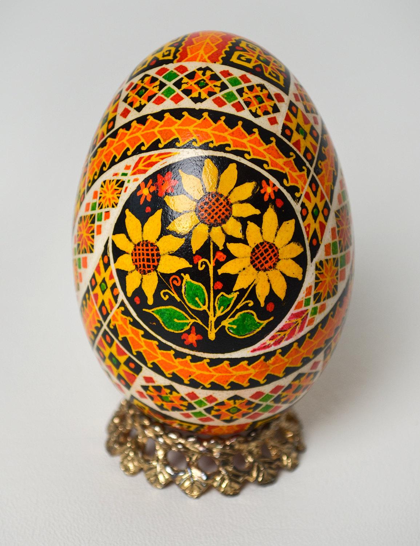 Ukrainian easter egg large goose egg