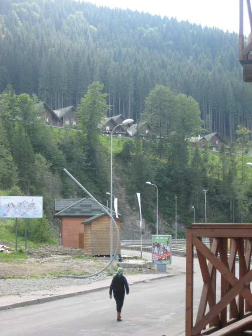 View from our hotel in the Ukrainian Carpathian Mountains.