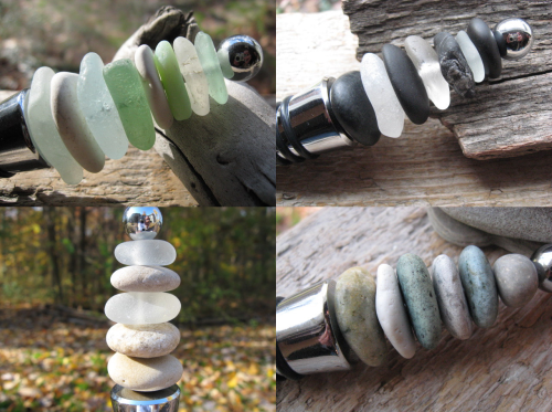 Beach Glass Beach Stone Wine Stoppers on Etsy.