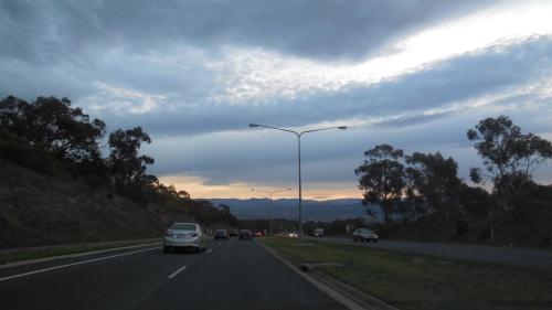The drive home Canberra 5th September 2013 Sonya Heaney Oksana Heaney 2
