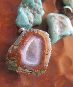 Turquoise Drusy Geode Cave Statement Necklace