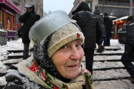 babushka protest kyiv ukraine