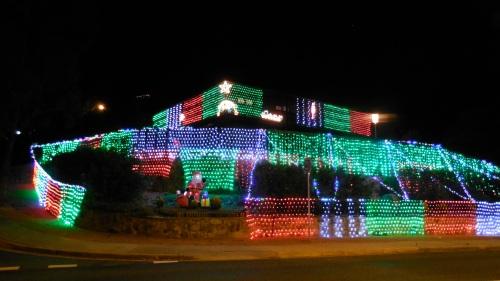 Christmas Lights Fadden Canberra Australia 1st December 2013