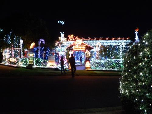Waniassa Christmas lights Canberra Australia Sonya Heaney Oksana Heaney 8th December 2013