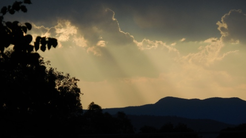 Hot Canberra Australia Evening Sky Sunset Mountains Brindabella Ranges 15th January 2014 Sonya Heaney Oksana Heaney