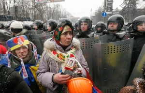 Ukraine_protest_140122_AAPKyiv Ukraine pro-Ukrainian protestors pro-Russian violence January 2014