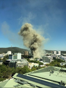 CanberrafireSydney Building Australia 17th February 2014
