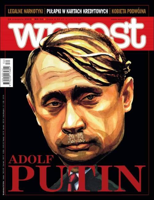 Adolf Putin Vladimir Putin Russia invades Ukraine February 2014