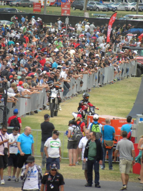 BMX Display Australian Formula One Grand Prix Melbourne 15th March 2014 Sonya Heaney Oksana Heaney