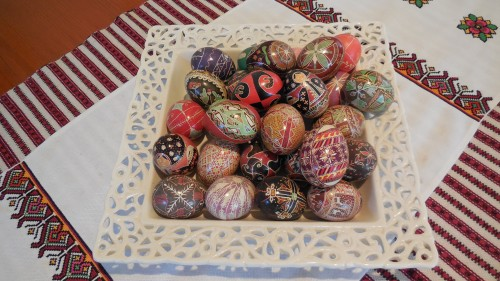 Pysanky Ukrainian Easter Eggs Canberra Australia 19th April 2014 Oksana Heaney Sonya Heaney