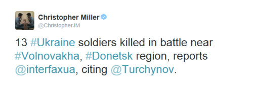 22nd May 2014 13 Ukrainian soldiers killed by Russians