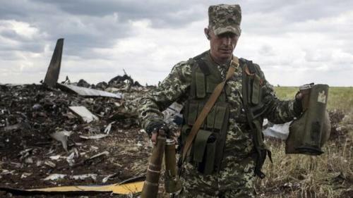 Russians shoot down Ukrainian plane. 49 killed.