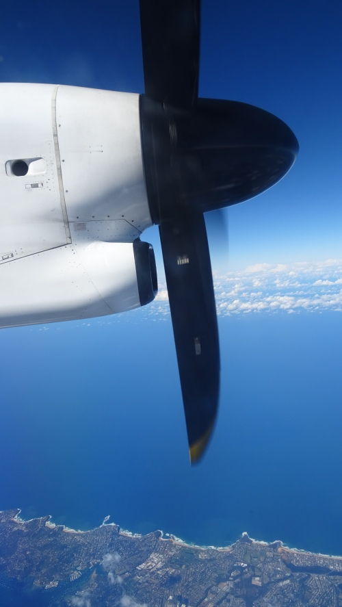 Flying Brisbane to Canberra Australia Qantas Dash 8 31st August 2014 Sonya Heaney Oksana Heaney