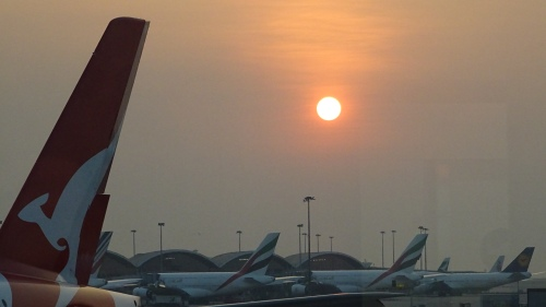 Hong Kong Airport Sunset 11th October 2014 Sonya Heaney Oksana heaney
