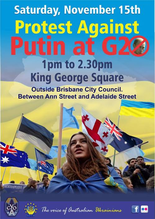 Stop Russia Stop Vladimir Putin G20 Brisbane 2014