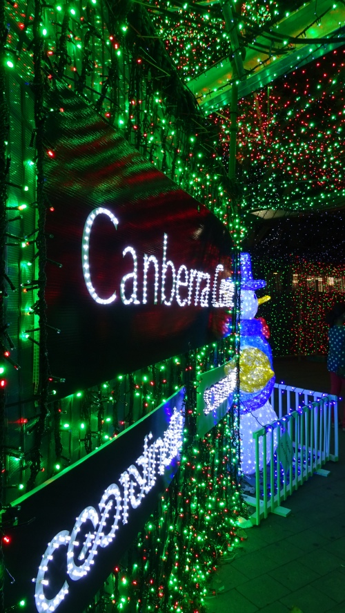 Christmas Lights Canberra Australia Canberra Centre 20th December 2014 Sonya Heaney Oksana Heaney