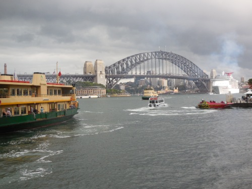Storm Sydney Harbour Bridge Circular Quay Australia 6th December 2014 Sonya Heaney Christopher Heaney 1