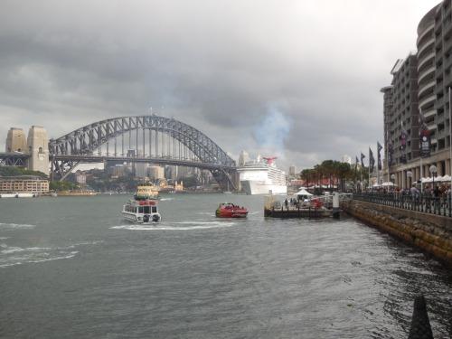 Storm Sydney Harbour Bridge Circular Quay Australia 6th December 2014 Sonya Heaney Christopher Heaney 2