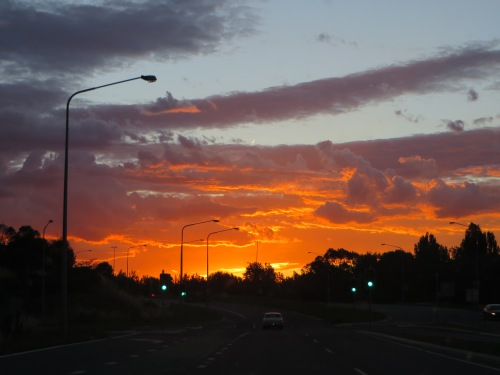 Sunset Canberra Australia 14th December 2014 Sonya Heaney Oksana Heaney
