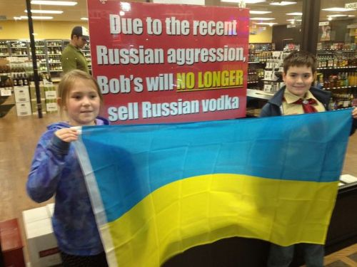 Boycott Russian Products Vladimir Putin Vodka Russia Invaded Ukraine 2014