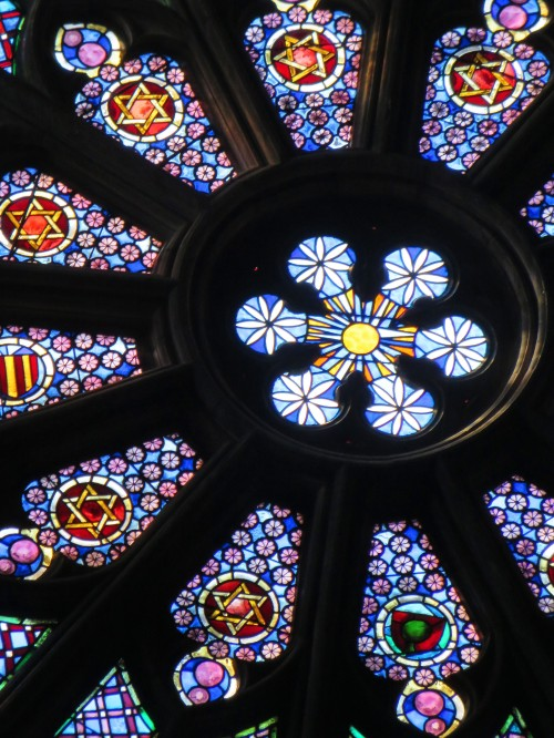 Barcelona Spain 7th October 2015 Sonya Heaney Stained Glass Window