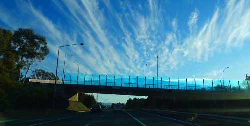 Canberra City to Woden Tuggeranong Australia 28th June 2015 Sonya Heaney Oksana Heaney Sky Clouds Winter