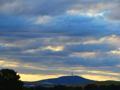Canberra from Queanbeyan Australia 3rd May 2015 Sonya Heaney Sky Clouds Sunset