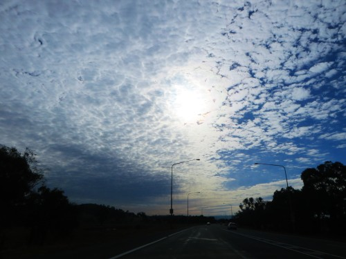 Morning Sky Clouds Winter Tuggeranong Canberra Australia Sonya Heaney 23rd June 2015
