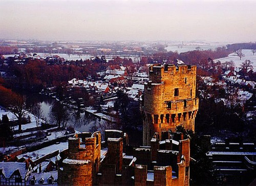 Snow at Warwick Castle England Britain Sonya Heaney December 2000