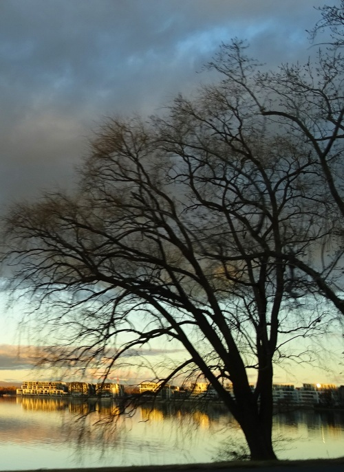 19th July 2015 Lake Burley Griffin Canberra Australia Sonya Heaney Oksana Heaney Reflection Winter Nature Sunset