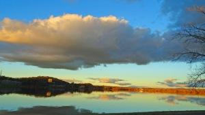 Dusk Canberra Australia Winter Lake Burley Griffin Sonya Heaney Oksana Heaney 19th July 2015 Reflection Sunset Nature