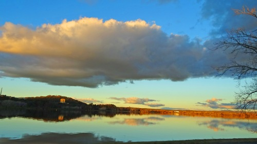 Dusk Canberra Australia Winter Lake Burley Griffin Sonya Heaney Oksana Heaney 19th July 2015 Reflection Sunset Nature