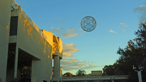 Dusk Canberra Australia Winter National Gallery of Australia Sculpture Sonya Heaney Oksana Heaney 19th July 2015 Reflection Sunset Nature