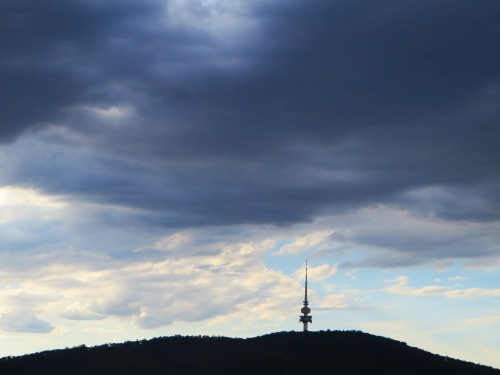 Black Mountain Tower Telstra Tower Canberra Australia 5th December 2015 Sonya Heaney Summer Sky Nature