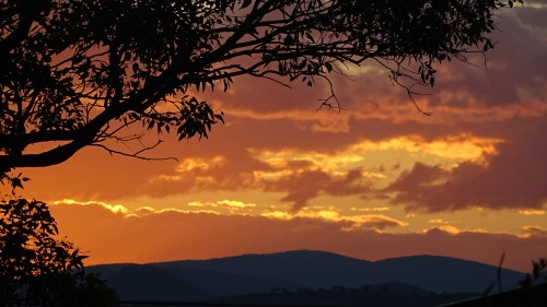 Friday Sunset Tuggeranong Canberra Australia Summer Brindabella Ranges Sonya Oksana Heaney 4th December 2015
