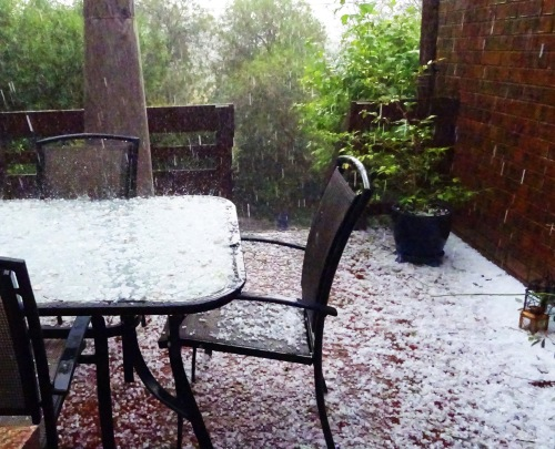 Hail Storm Tuggeranong Cannberra Australia 25th January 2016 Sonya Heaney Nature