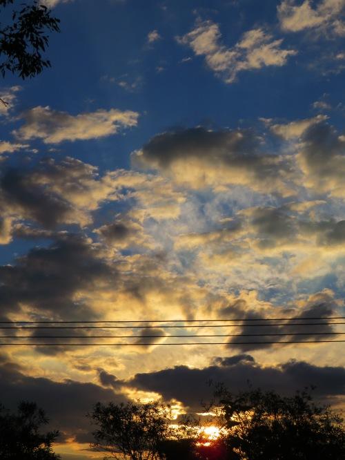 Sunset Tuggeranong Canberra Australia Sonya Heaney Summer Sky Clouds Nature 2nd February 2016