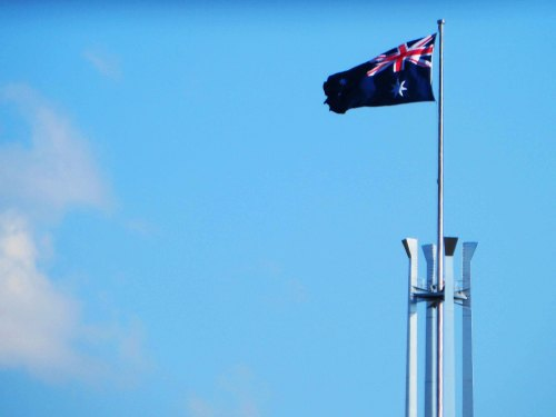 Parliament House Canberra Australia Sonya Heaney Australian Flag 2nd April 2016