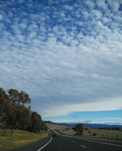 Queanbeyan to Canberra Australia Winter Sky Clouds Driving Sonya Heaney 29th July 2016 Nature