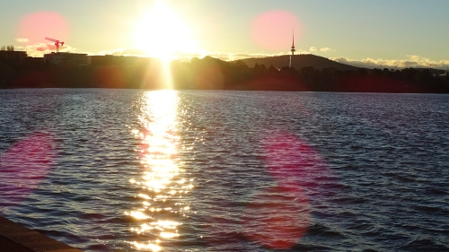 Winter Canberra Lake Burley Griffin Tesltra Tower 2nd July 2016 Sonya Oksana Heaney Water