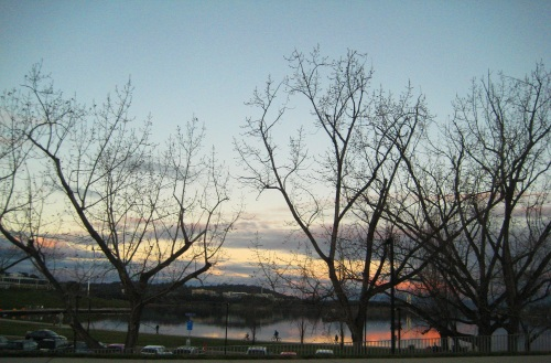 Winter Evening Lake Burley Griffin Canberra Australia Sonya Heaney 9th July 2016