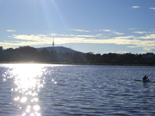 Winter Sun Lake Burley Griffin Canberra 30th July 2016 Sonya Heaney Australia Black Mountain Tower
