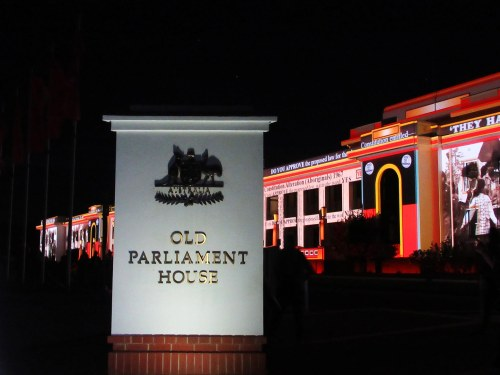 Old Parliament House Canberra Australia Englighten Canberra Festival 11th march 2017 Sonya Heaney Night
