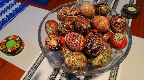 Ukrainian Easter Eggs Embroidery Pysanky in Canberra Australia Sonya Oksana Heaney 2017